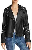 BB Dakota Jerilyn Studded Faux Leather Moto Jacket