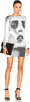 Anthony Vaccarello Anja Print Sweatshirt Dress