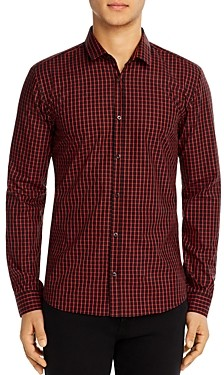 HUGO BOSS Hugo Ero Cotton Check Extra-Slim Fit Button-Down Shirt