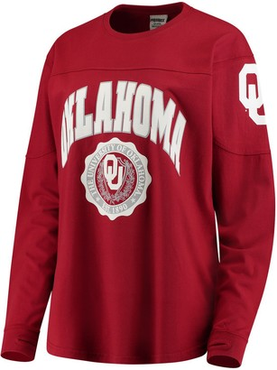 Women's Crimson Oklahoma Sooners Edith Long Sleeve T-Shirt