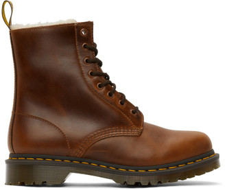 Dr. Martens Brown Faux-Fur 1460 Serena Boots