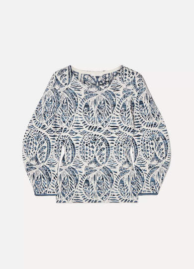 Chloé Stretch Jacquard-knit Sweater - Blue