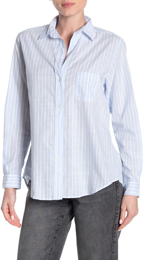 The Hero Washed Stripe Print Cotton Shirt