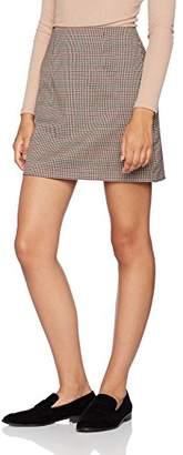 New Look Women's 5439164 Skirt, (Black Pattern)