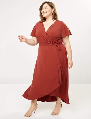 Lane Bryant Faux-Wrap Midi Dress