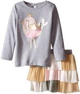 Mud Pie Chickadee Tutu Skirt Set Girl's Active Sets