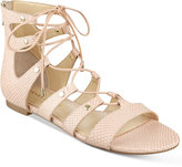 Ivanka Trump Callie Lace-Up Flat Sandals