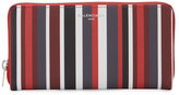 Balenciaga Papier Striped Continental Wallet, Red