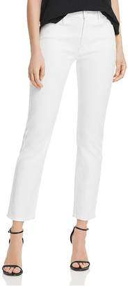 Mother The Mid-Rise Dazzler Ankle Straight-Leg Jeans in Glass Slipper