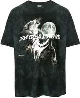 Andrea Crews logo wolf print T-shirt