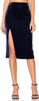 KENDALL + KYLIE Velvet Midi Skirt