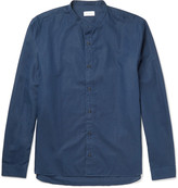 Sunspel - Grandad-collar Cotton And Linen-blend Shirt