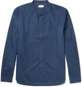 Sunspel - Grandad-collar Cotton And Linen-blend Shirt
