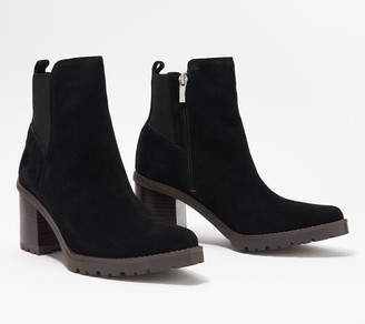 Franco Sarto Suede Ankle Boots - Tori