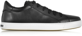 DSQUARED2 Tennis Club Black Leather Men's Sneaker