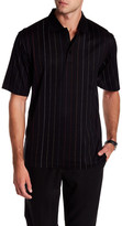 Bugatchi Stitched Stripe Mercerized Polo Shirt