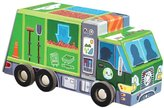 """Crocodile Creek Recycling Truck 48 piece Jigsaw Puzzle in Vehicle Shaped Box 8"""""""
