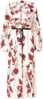 Johanna Ortiz Floral Ruffle Maxi Dress