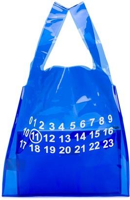 Maison Margiela logo detail clear bag