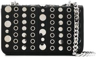La Carrie stud-embellished crossbody bag