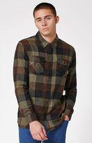 Vans Box Green Plaid Flannel Long Sleeve Button Up Shirt
