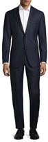 Hickey Freeman Wool Striped Notch Lapel Suit