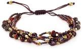 Chan Luu Garnet Multi Strand Beaded Bracelet