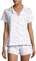 BedHead Short-Sleeve Print Shortie Pajama Set, Rose All Day