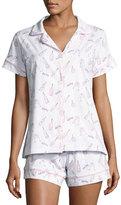 BedHead Short-Sleeve Print Shortie Pajama Set, Rose All Day