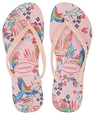 Havaianas Slim Tropical Floral Sandal (Ballet Rose) Women's Sandals
