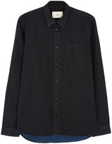 Folk Faded Black Denim Shirt