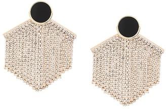 Venna Hexagon Fringe Drop Earrings