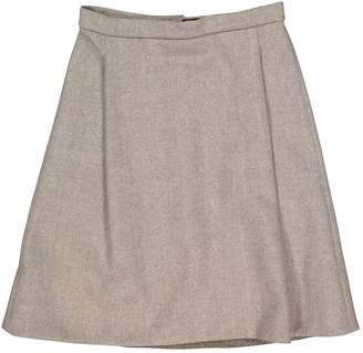 Louis Vuitton Beige Cashmere Skirts