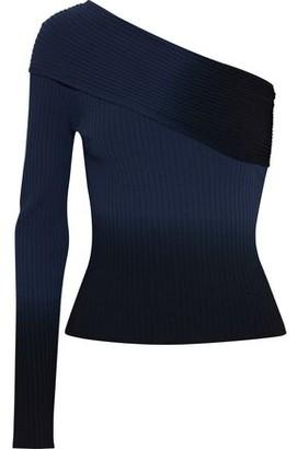 Altuzarra Padma One-shoulder Degrade Ribbed-knit Top