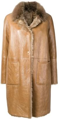 Manzoni 24 shearling lined coat