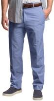 Dukes Bark Cotton Chambray Pants - Flat Front (For Men)