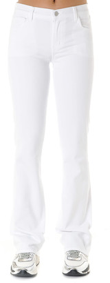 J Brand Low Rise Jeans In White Cotton
