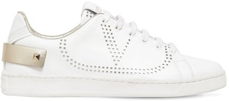 Valentino 20MM BACKNET LOGO LEATHER SNEAKERS