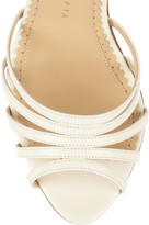 Charlotte Olympia Hollywood suede and leather platform sandals