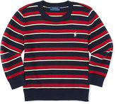 Ralph Lauren Stripe Cotton Crewneck Sweater