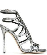 Sergio Rossi glitter-effect sandals - women - Leather - 36