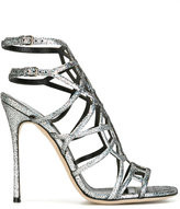 Sergio Rossi glitter-effect sandals - women - Leather - 37.5