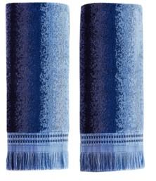 Saturday Knight Eckhart Stripe 2 Piece Hand Towel Set Bedding