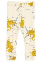 Mini Rodini Infant Girl's Unicorn Organic Cotton Leggings