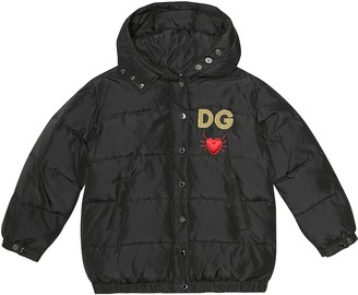 Dolce & Gabbana Kids Embroidered quilted jacket