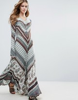 Raga Caravan Long Sleeve Maxi Dress