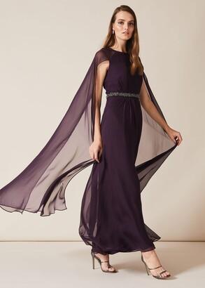 Phase Eight Samira Cape Beaded Dress