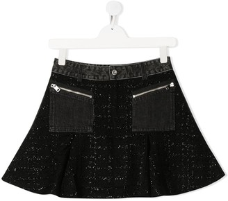 Diesel TEEN embroidered mini skirt
