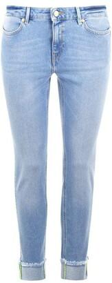 Escada Skinny Frayed Ankle Jeans