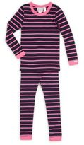 Coccoli Little Girl's & Girl's Two-Piece Striped Cotton-Blend Tee & Pajamas Set
